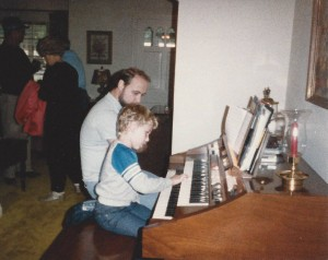 Adam and Dad at Organ